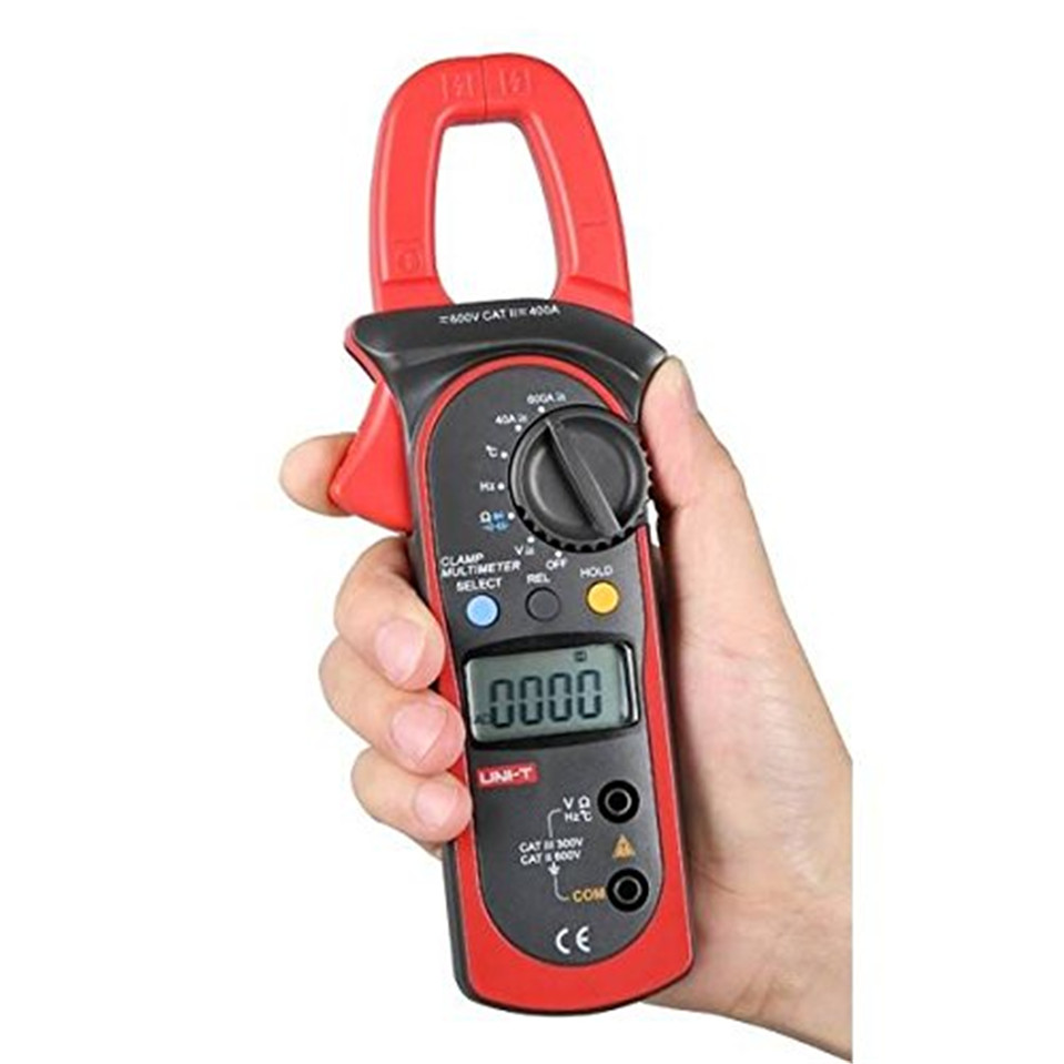 2017 UNI-T UT204A DC/AC Voltage Current Digital Clamp Meter with Resistance, Capacitance, Frequency and Temperature Measurement meter ut61a transistor resistance digital capacitance measurement test three and a half
