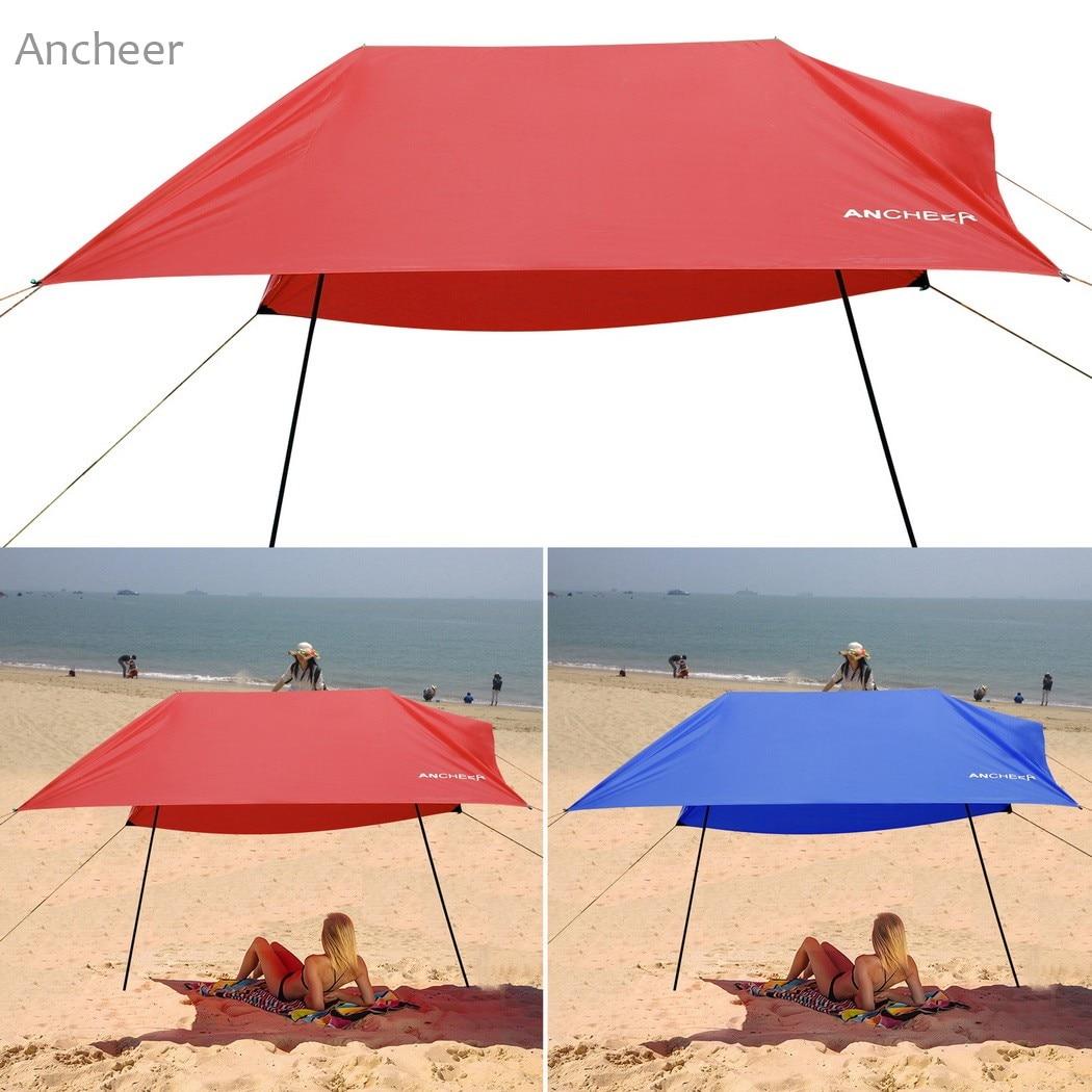 Beach Tent Portable Canopy Sunshade Sun Shelter 3 X 3m