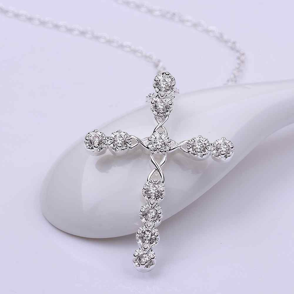 MKP13 Women fashion fine jewelry,925 silver cross pendant,super shiny lady 'necklace нож универсальный samura shadow sh 0023 16