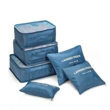 Nylon Embalagem Cubo Sistema Durável 6 Peças Um Conjunto Grande Capacidade de Saco de Viagem De Roupas Unissex Organizar Saco de Classificação(China (Mainland))