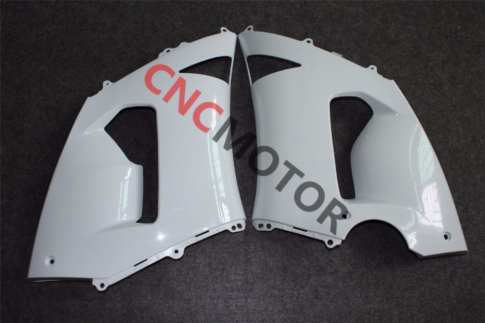 Unpainted Raw Right & Left Mid Side Panel Fairing Kit for KAWASAKI ZX6R ZX-6R 636 2005 2006 зажимы apex hic mono kit raw