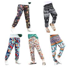 3bfd051835 Summer Autumn Children Harem Pants Boys Beach Print Trousers Girls Dance Clothing  Pants Girls Bohemian Bloomers