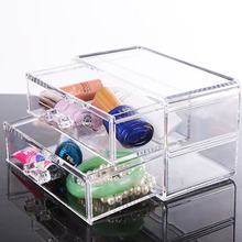 Cosmetic jewelry box Drawer box Drawer admission box makeup organizer storage box Nail polish rack Lipstick frame chef basket