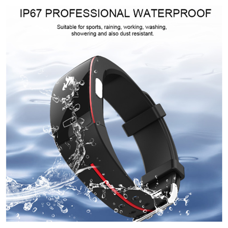 <font><b>P3</b></font> ECG PPG <font><b>Smart</b></font> <font><b>Band</b></font> Watch Bracelet Fitness Tracker Blood Pressure Heart Rate Monitor Sport Pedometer IP67 Waterproof Wristban image