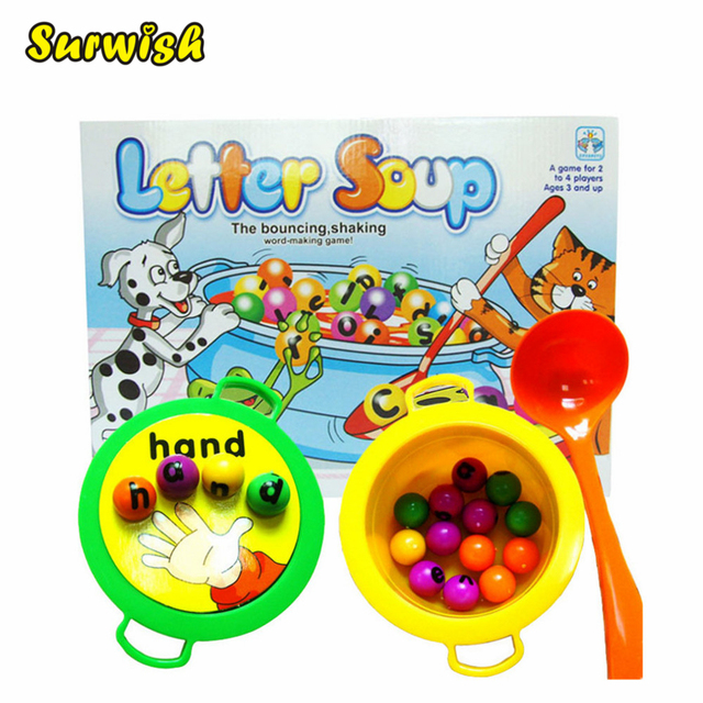 surwish plastic letter soup matching word board game electronic