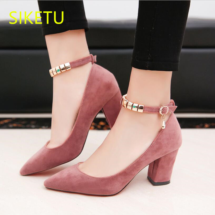 SIKETU 2017 Free shipping Spring and autumn high heels shoes women shoes Wedding Word buckle sandals pumps g020 siketu 2017 free shipping spring and autumn women shoes fashion sex high heels shoes red wedding shoes pumps g107