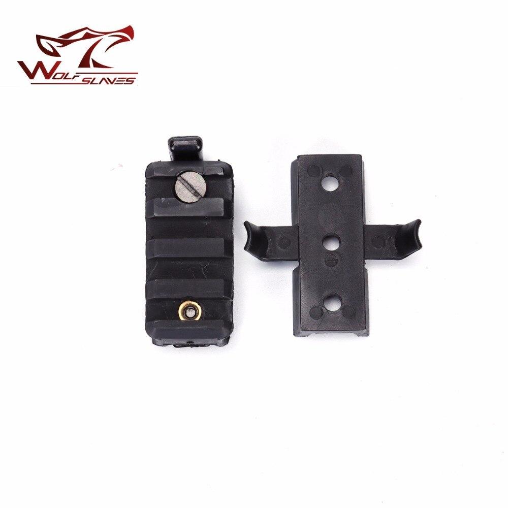WING-LOC//PIC Flashlight Mount Adapter Base for Fast Helmet Side Rail Gadget BKDE