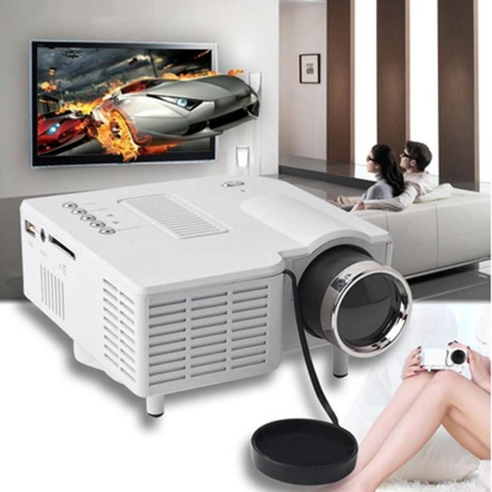 UC28 + мини Портативный 1080 P HD проектор домашнего Кино Театр обновлен HDMI Интерфейс дома Развлечения устройства мультимедийный плеер