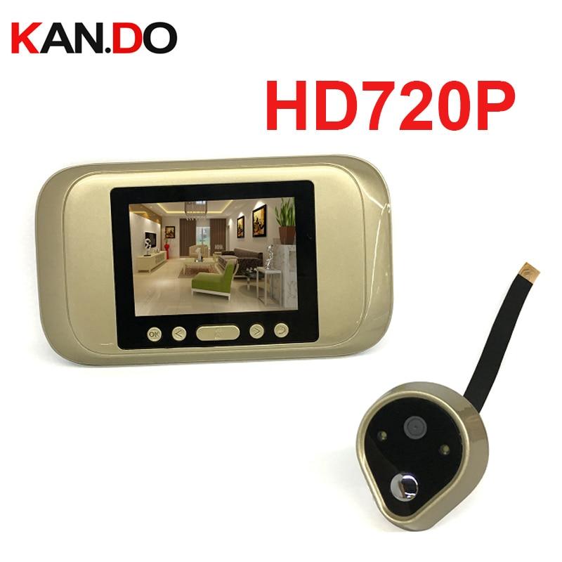 Hd720p 3.2'' Peephole Viewer Camera Door Camera Monitor Photo Video Recorder TFT Home Anti Flicker Video Doorbell Door Cctv Bell