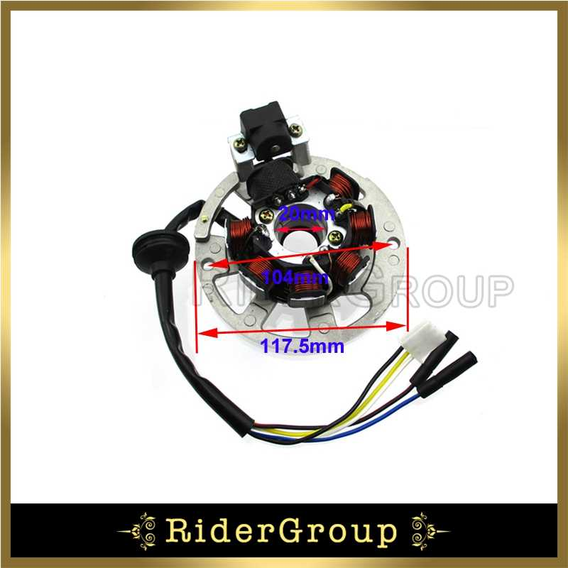 5 Wires 7 Coils Ignition Magneto Stator For 2 Stroke Yamaha JOG Minarelli  50 50cc 90 90cc Scooter