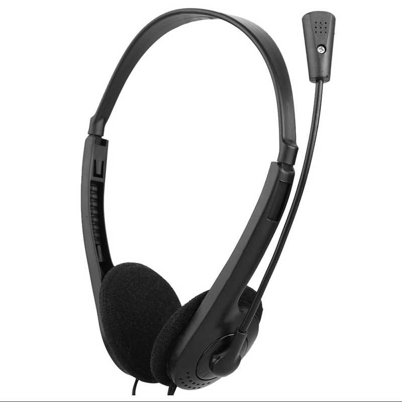3.5mm Wired אוזניות רעש ביטול סטריאו אוזניות עם מיקרופון מתכוונן סרט למחשב נייד שולחן עבודה אוזניות