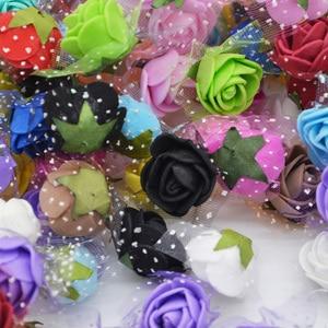 100 шт 2 см мини ПЭ пена цветок поддельные искусственные розы для DIY ручной работы свадебные украшения Скрапбукинг ремесла Подарочная коробка Роза