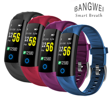 BANGWEI  Smart Sports Watch Heart Rate Monitor Blood Pressure Fitness Tracker Intelligent Ios Android + Box