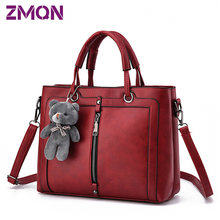 Luxury font b Women b font Leather font b Handbag b font Red Retro Vintage Bag