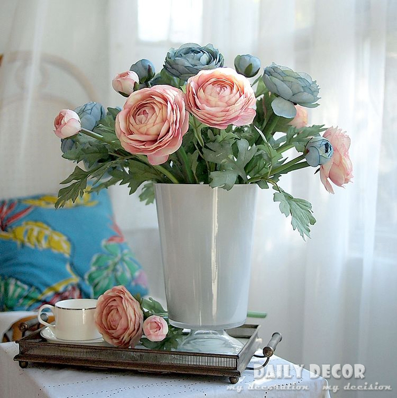 10 pcs lot high quality ranunculus asiaticus flower artificial high quality ranunculus asiaticus flower artificial persian buttercup silk flowers wholesale free shipping in artificial dried flowers from home garden mightylinksfo