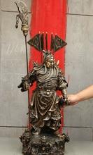34 Tibetan Buddhist bronze Healing Chinese Copper Bronze 9 Drgon Head Flag God Statue Brass Crafts Arts