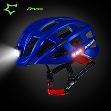 Rockbros Bicycle Helmet with Light Men EPS Integrally-molded Cycling Helmet Breathable Protector Road Bike Accessories Helmet
