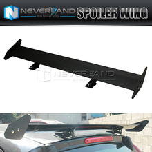 Black Universal AdjustableAluminum Rear Wing Racing Spoiler