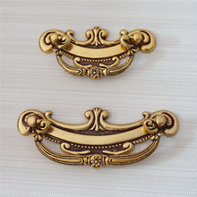 2.5 3.75 Vintage Antique Brass Dresser Drop Pulls Drawer Handles Kitchen Cabinet Bail Pull Furniture Door Handle