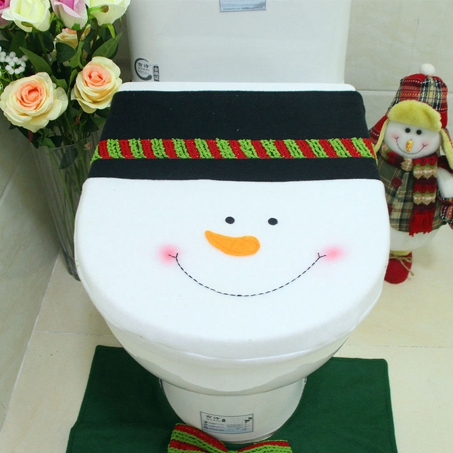 Pleasant Aliexpress Com Buy Christmas Decoration Toilet Seat Cover Snowman Toilet Lid Cover Warmer Pad Mat Washable Xmas Bathroom Toilet Seat Cover Cushion Pabps2019 Chair Design Images Pabps2019Com