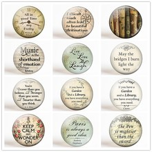 All In Good Time... Inspirational Quotes Refrigerator Magnet Set 12pcs 25MM Round Glass Letter Magnetic Stickers for Fridge