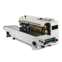 Mejor Máquina automática de sellado de película plástica de 500W máquina de sellado de banda continua de