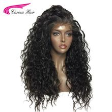 Carina Hair 150% Natural Color Kinky Curly Glueless Lace Front Wigs for Black Women Pre Plucked Brazilian Non-Remy Human Hair