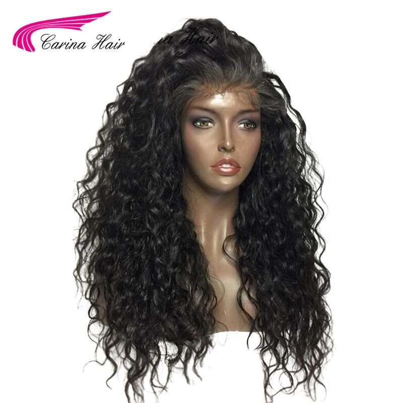 Carina Hair 150 Density Deep Curl Brazilian Remy Hair Full Lace Human Hair Wigs With Natural Hairline For Black Women