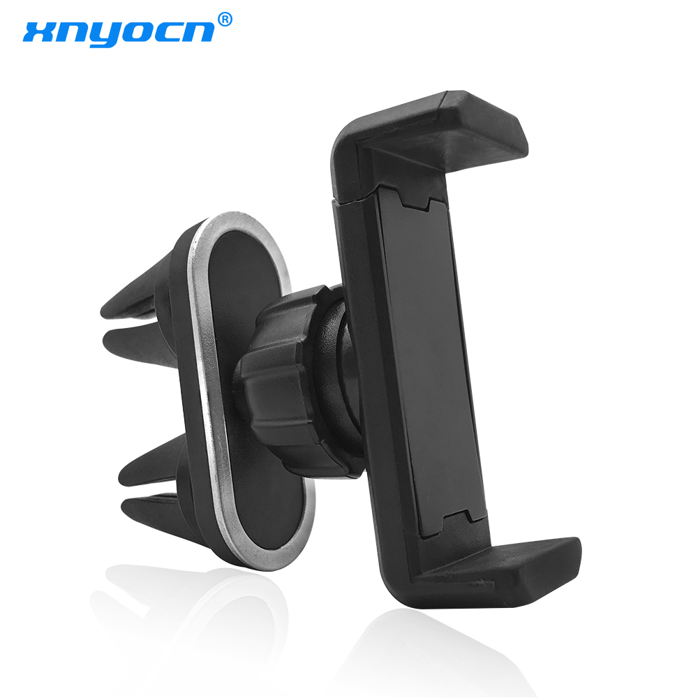 Xnyocn Auto Car Air Vent Phone Holder Stand Universal 360 Rotation GPS Navigation Holders Bracket for IPhone Samsung Holder ...