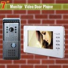 7 Inch Video Door Phone Doorbell Intercom System IR Night Vision alloy Camera Video Door Bell Video Intercom interphone kit