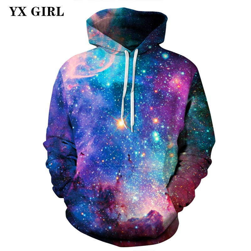 2018 NEW S-XXXL Regular Autumn Spring Hoodies Women Men 3d Galaxy Space Hoodies Pullovers Unisex Casual Sweatshirts Dropshipping