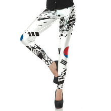 1523 Fitness Elastic Women Leggings Sexy Girl Polyester Slim Fit Workout Pants Trousers CASKFG Korea Flag national Printed