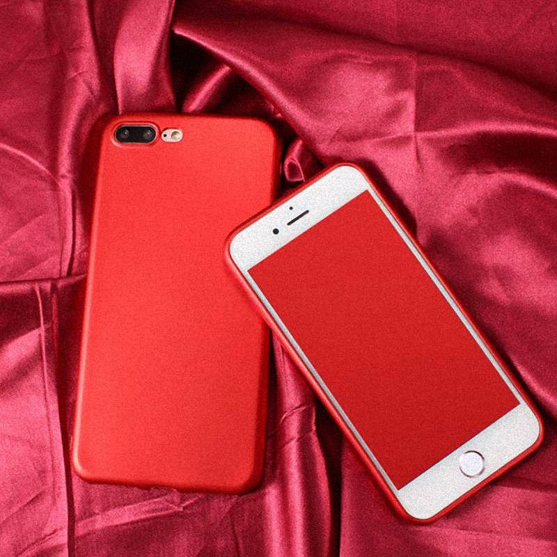 9623b291fd2 Casos fundas para el iphone X 8 7 Plus 6 6S Plus 5S 5 SE 5SE caso Extremo  Ultra Delgado Mate Cubierta Protectora de Silicona Negro Rojo para Las  Señoras de ...
