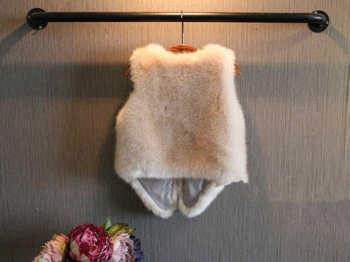 Chaleco de piel de zorro sólido para niñas 2019 otoño invierno nuevo suave de alta calidad elegante princesa niños outwear chaleco 6 colores 7 tamaño
