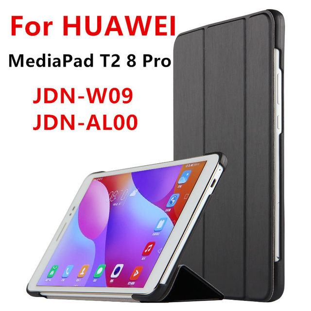 Case For Huawei MediaPad T2 8 Pro Smart cover Faux Leather Protective For HUAWEI Honor Tablet 2 JDN W09 JDN AL00 Case Protector-in Tablets & e ...