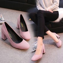 2017 square toe high heeled shoes bridesmaid nude color velvet shallow mouth high heel spring autumn