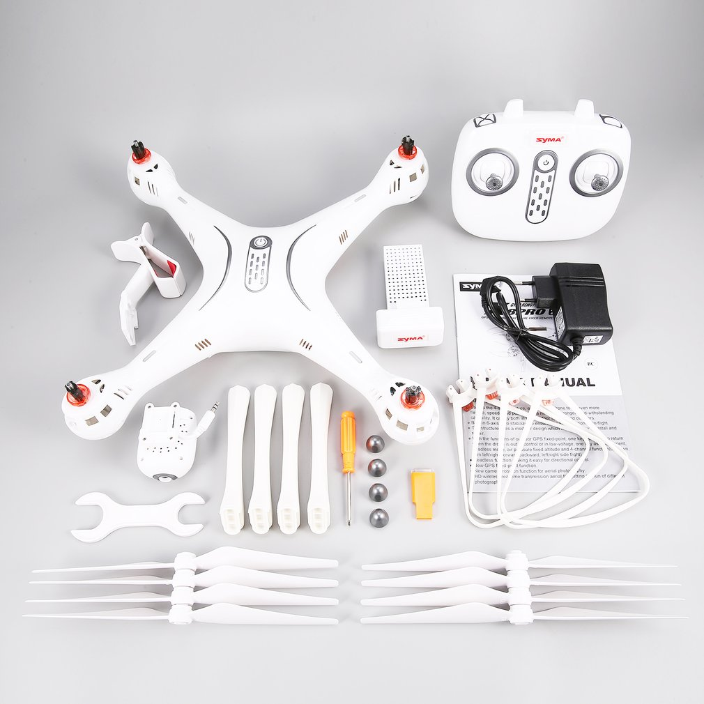 SYMA X8PRO 720P HD Camera GPS <font><b>DRON</b></font> WIFI <font><b>FPV</b></font> With Adjustable Camera drone 6Axis Altitude Hold x8 pro RC Quadcopter image