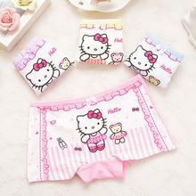 Girl Underwear Short-Pants Boxer Children Cotton Cartoon 4pcs/Lot Hot-Sale