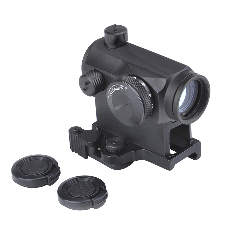 SEIGNEER Tactical Mini 1X24 <font><b>T1</b></font> <font><b>Red</b></font> Green <font><b>Dot</b></font> Sight Illuminated Sniper Rifescope With Quick Release Hunting Air Gun Rifle <font><b>Scope</b></font> image