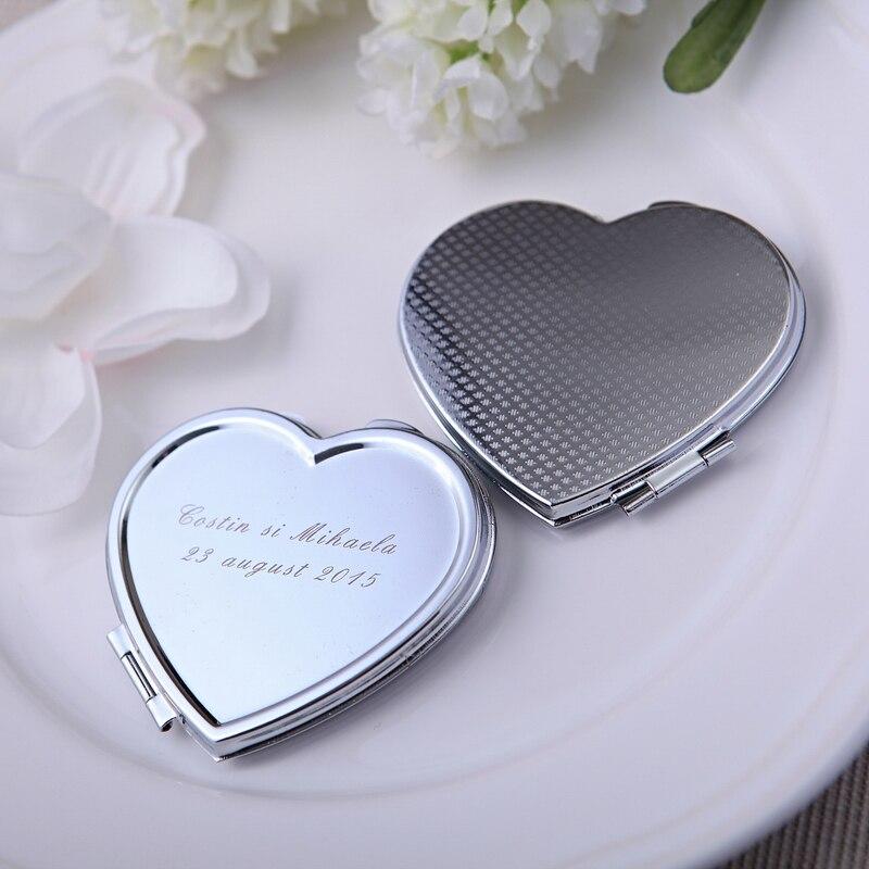 Aliexpress Com Buy Engraved Heart Compact Mirrors Custom