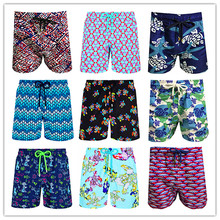Free Shipping 2019 Brand Fashion BREVILE PULLQUIN Turtles Beach Board Shorts Men Swimwear Elastic Band Lovers Swimsuit Quick Dry