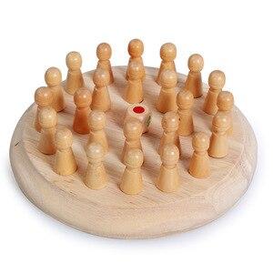 Image 3 - Enfants jeu de fête en bois mémoire Match bâton jeu déchecs amusant bloc jeu de société éducatif couleur capacité Cognitive jouet pour les enfants