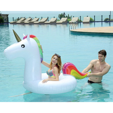 175*120cm Unicorn Swimming Float Inflatable Flamingo Float Unicorn Pool Float Tube Raft Kid Swimming Ring Summer Water