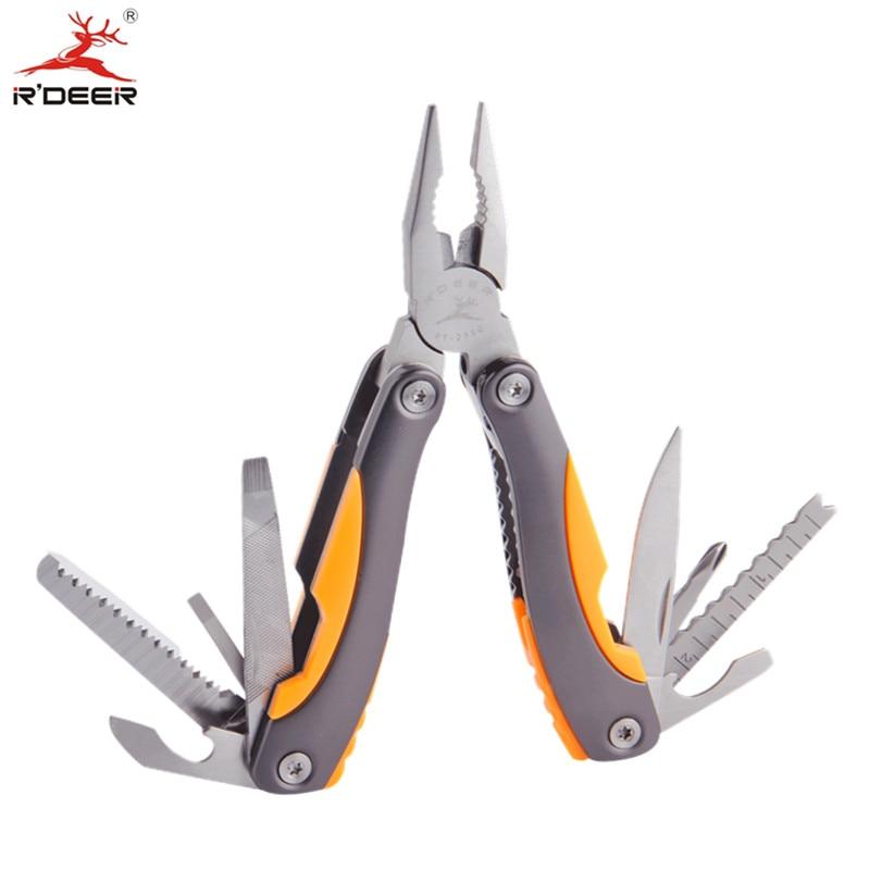 RDEER Multifunction Pliers Stainless Steel Folding Multitool Pliers Knife Screwdriver DIY Outdoor Hand Tools  цены