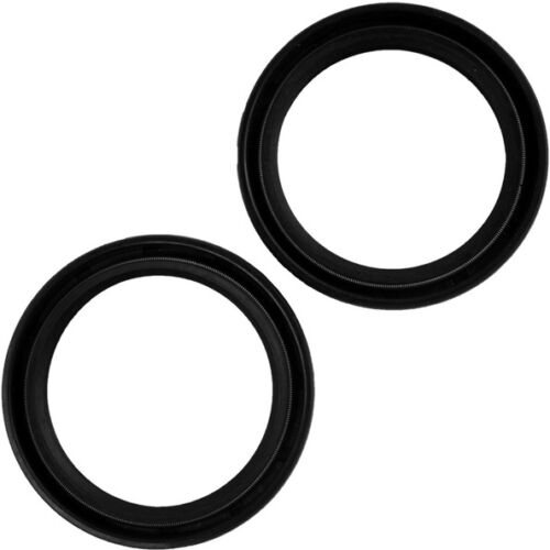 Motorcycle 2X Black Front <font><b>fork</b></font> Oil Seal 37mm x50mm x11mm For Honda <font><b>700</b></font> VFR700F/F2 1986-1987 image