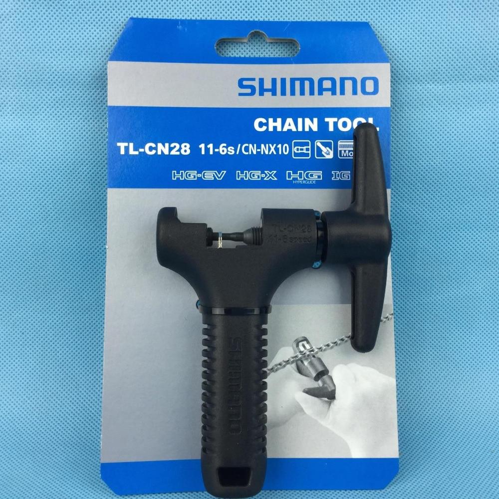 Chaîne de bicyclette outil SHIMANO TL-CN28 11-6 s vélo de réparation de vélo outils Chaîne Pin Splitter Dispositif Chaîne Disjoncteur Cutter removal Tool
