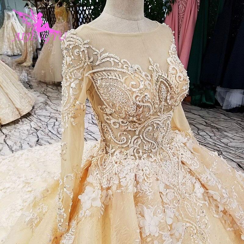 AIJINGYU Южная Африка платья для женщин Винтаж невесты Marvel бусины новые более Германия шить свадебная одежда кружево органзы свадебное