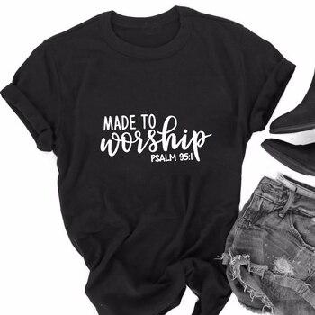 Camiseta informal a la moda de los años 90 de estilo veraniego, camiseta para adorar a las mujeres cristianas, camiseta estética Popular para chicas, trajes