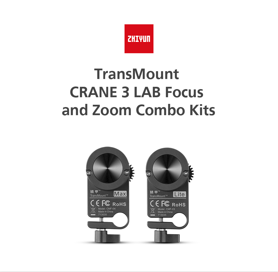 Zhiyun TransMount Crane 3 LAB Focus and Zoom Combo Kits Max Lite