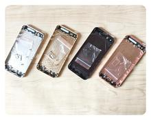 Full chassis For iphone 5 5g / 5s iphone5 Back housing 5s metal alloy cover battery door Custom IMEI ; free tracking